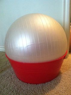 Therapy ball seat  (I used a Mainstays Party Tub from Wal-Mart $4.97, and my own therapy ball!)