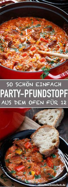 Party pound for twelve - a simple party meal - easy to cook- Party Pfundstopf für zwölf – ein einfaches Partyessen – emmikochteinfach Party pound for twelve Authentic Mexican Recipes, Mexican Dinner Recipes, Crock Pot Recipes, Pasta Recipes, Healthy Dinner Recipes, Vegetarian Recipes, Vegetarian Soup, Plats Healthy, Easy Party Food