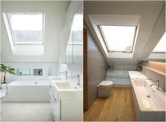 Une Salle De Bain Sous Pente Ou Sous Combles En Photos Attic - Idee salle de bain sous pente