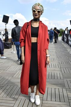 Street style at the 'Africa Now' festival in Paris