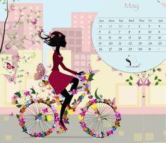 Lulu Factory : Fond d'écran Calendrier Mai 2013 (téléchargement gratuit) {May 2013 Free Desktop Calendar}
