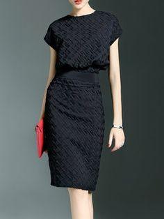 481e2b5c Two Piece Polyester Batwing Work Midi Dress Midi Dress Work, Casual Formal  Dresses, Long