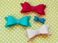 Felt Bows - free pattern & tutorial from #oliver+s
