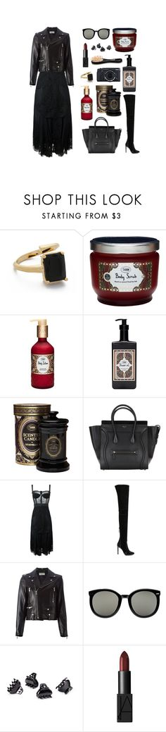 """61."" by sabon ❤ liked on Polyvore featuring Bijules, Dolce&Gabbana, Aquazzura, Yves Saint Laurent, Fujifilm, Karen Walker, H&M, NARS Cosmetics, Winter and black"