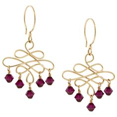 #inspirationinbloom Ruby Rain Earrings | Fusion Beads Inspiration Gallery