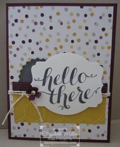 Stampin Up Hello There stamp set card