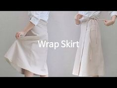 [Sewing Vlog] 내몸에 맞는 랩스커트 만들기 :: The Wrap Skirt that fits my body (Eng Sub) Prom Dresses, Formal Dresses, Skirt Pants, Wraps, Style Inspiration, Sewing, Skirts, Pattern, Clothes