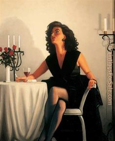 Jack Vettriano Table for One painting for sale - Jack Vettriano Table for One is handmade art reproduction; You can shop Jack Vettriano Table for One painting on canvas or frame. Jack Vettriano, Arte Pulp Fiction, The Singing Butler, Pinturas Art Deco, Estilo Gigi Hadid, Pin Up, Edward Hopper, Pulp Art, Limited Edition Prints