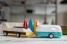 Candylab Toys Woodie and Camper combo :The most beautiful handmade wooden toy vehicles