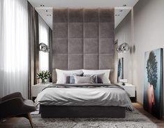 Ideas for bedroom modern headboard bedhead Modern Bedroom Design, Master Bedroom Design, Home Bedroom, Bedroom Decor, Bedroom Ideas, Gray Bedroom, Master Bedrooms, Appartement Design, Stylish Bedroom