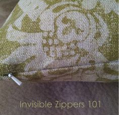 Tutorial Tuesday: Throw Pillow with Invisible Zipper - Schlosser Designs