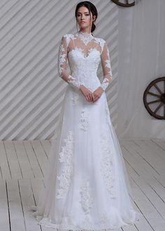 Vestidos novia manga larga baratos