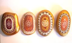 RESERVED: Custom listing for 4 painted stones.