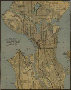 Kroll S Standard Map Of Seattle 1916