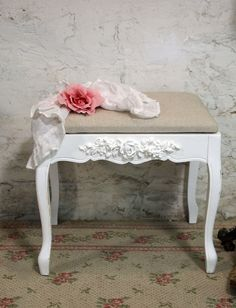 Painted Cottage Chic Shabby White Romantic by paintedcottages, $85.00