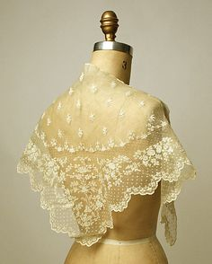 Headcloth (Kerchief)  Date: early 19th century Culture: Philippine Medium: piña cloth, linen