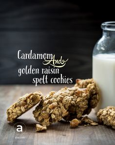 Crispy on the outside, tender on the inside, and perfectly spiced with cardamom, these fragrant cookies use just one bowl and can be jazzed up with any dried fruit you like (or chocolate chips). #healthysweets #warmingspices #alivemagazine