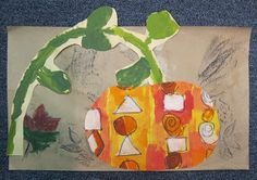 Color, collage, and much more: Kinder Pattern Pumpkin Collages