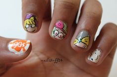 90s Nickelodeon Nails... doesnt get much better.