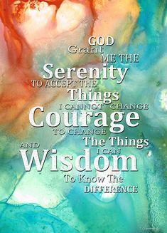 Serenity Prayer 1 - By Sharon Cummings by Sharon Cummings #serenityprayer