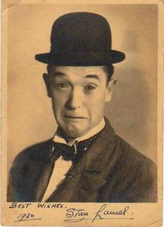 STAN LAUREL of the famous comedy duo LAUREL & HARDY. He got his start on the vaudeville stage. Before either of them were famous, he was the understudy to Charlie Chaplin. After arriving in Hollywood, he starred in 187 short films.