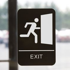 90 Best exit sign images in 2018 | Exit sign, Emergency exit