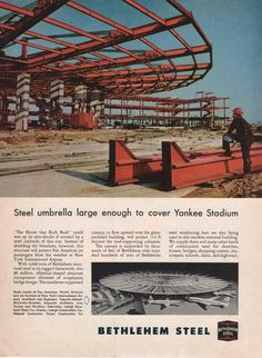 1959 Bethlehem Steel - NY International Airport Pan Am Jet Terminal Advert Vintage Travel, Vintage Ads, Vintage Airline, International Airlines, International Airport, Travel Ads, Air Travel, Bethlehem Steel, Airport Photos