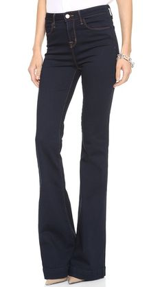 J Brand The Doll High Waist Bell Bottom Jeans - kind of into the flair right now