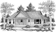 Cabin House Plan with 1084 Square Feet and 2 Bedrooms(s) from Dream Home Source | House Plan Code DHSW72709