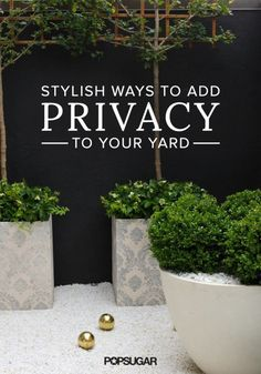 4 Stylishly Sneaky Ways to Add Privacy to Your Yard