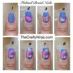 Gorgeous Fishtail Braid Nails   Sole Tutorials