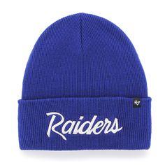 e39e20bc0f0 Oakland Raiders Super Script Cuff Knit Royal 47 Brand Hat