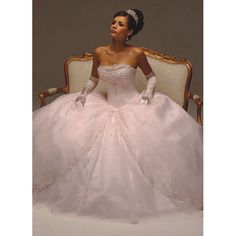 Wonderful Ballgown Strapless Organza Wedding Bridal Dress with Embroidery