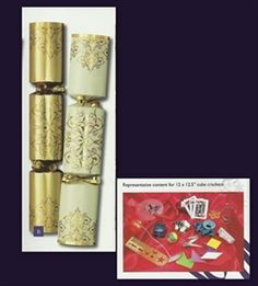 Picture of Christmas Crackers - 12 Luxury Christmas Crackers - Gold & Cream Online Cards, Online Greeting Cards, Christmas 2014, Christmas Pictures, Christmas Crackers, Cube, Cream, Luxury, Birthday