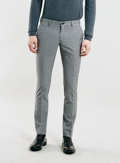 For mens fashion check out the latest ranges at Topman online and buy today. Topman - The only destination for the best in mens fashion Mens Dress Pants, Plaid Pants, Men's Pants, Slim Fit Trousers, Trouser Suits, Skinny Guys, Skinny Fit, Plaid Fashion, Fasion