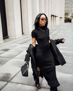 All Black Outfit Casual, All Black Outfits For Women, All Black Fashion, Casual Summer Outfits, Spring Outfits, Autumn Fashion, Fashionable Outfits, Edgy Outfits, Fashion Outfits