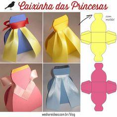 ARTE COM QUIANE - Paps, Moldes, E.V.A, Feltro e Costuras: Molde Caixinha das Princesas de papel