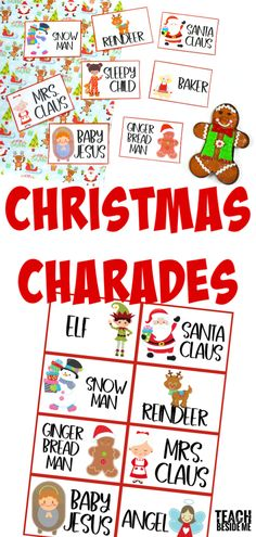 Christmas Charades - fun for the whole family. #christmas #kids #family #games #holidays #charades