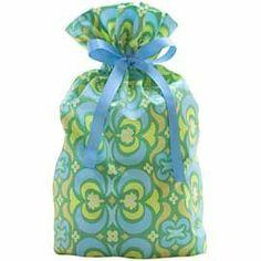 Reusable Fabric Gift Bag, Kaleidoscope Green