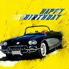 An absolute classic, the Chevrolet Corvette also known as a Chevy, first manufactured in 1953 and named after small, highly maneuverable naval escort ship. The image is digitally painted to create cards that stand out, a must have card for any motor enthusiast. The card is 148 mm square, printed on beautiful 300gsm card and comes with envelope and sealed in a plastic sleeve. The inside is blank for you to add your own wording.
