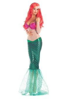 You'll be quite the catch in this sweet mermaid costume for adults! The shimmery, outfit looks like it came straight out of a fairy tale!