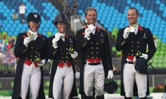 Fiona Bigwood, Charlotte Dujardin, Carl Hester, and Spencer Wilton: Silver in…