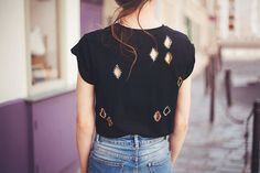 Losanges ⎥ DIY T shirt découpé ⎥Elle Frost - Elle Frost // Powered by chloédigital