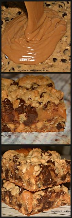 Toffee Peanut Butte Toffee Peanut Butter and Caramel. Toffee Peanut Butte Toffee Peanut Butter and Caramel Cookie Toffee Peanut Butte Toffee Peanut Butter and Caramel Cookie Bars - Hugs and Cookies XOXO Cookie Desserts, Just Desserts, Cookie Recipes, Delicious Desserts, Dessert Recipes, Yummy Food, Cookie Bars, Bar Recipes, Cookie Brownies