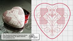 heart-shaped blackwork box - free chart by Ajisai Press