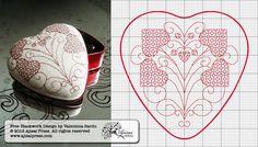 heart-shaped blackwork box - free chart by Ajisai Press