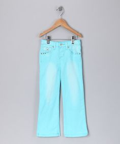 Take a look at this Turquoise Jeans - Girls  by Blow-Out on #zulily today!