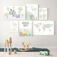 Adventure Nursery Decor Nursery Decor Airplane World Map | Etsy