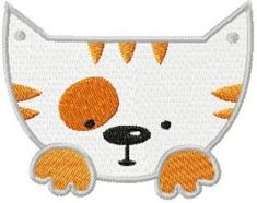 Free Embroidery Design: Moxito Cat Happy Face - I Sew Free