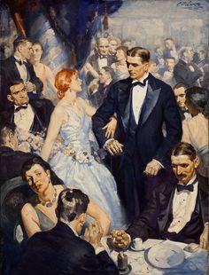 The Belle of the Ball - Edmund Franklin Ward #illustration #vintage